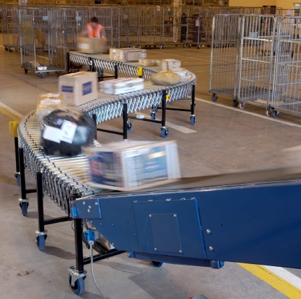 A S Conveyors Suppliers Of Powered Flexible Conveyor