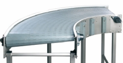 Modular belt conveyor bend