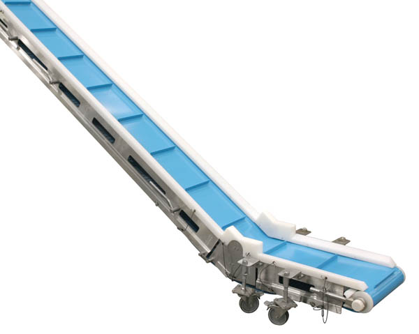 stainless steel elevating belt conveyor